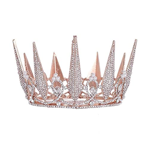 ZLYFS Coronas De Princesas Corona De Novia Diamante Completo ...