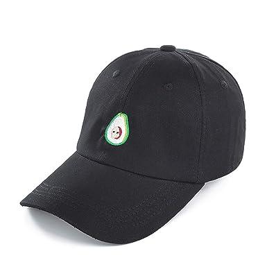 a1155d3cb84 Lovely Avocado Snapback Cap Baseball Cap for Men Women Hip Hop Dad Hat  Snapbacks Cap Black