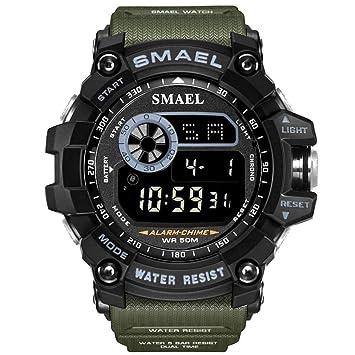 SW Watches Relojes SMAEL Digital Reloj Deportivo con Esfera Grande para Hombre Ejecución De 50M Impermeable Reloj LED Reloj Digital Light Men Digital Watch ...