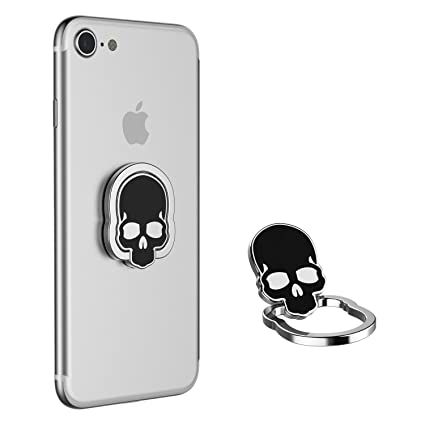025192a57 Painter Metal Body Skull Designed Finger Ring Grip  Amazon.in  Electronics