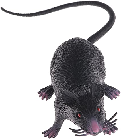Shaoge Christmas Joke Fake Lifelike Mouse Model Prop Halloween Gift Toy Party Decor