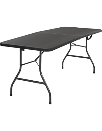 a39393d5ed7 Cosco 14678BLK1 Deluxe 6 Foot x 30 inch Half Blow Molded Folding Table