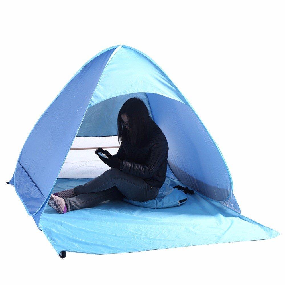 Bestwind Outdoor Wandern Camping Zelt UV Schutz Vollautomatische Sun Shade Schnell Öffnen Pop Up Strand Markise Angeln Zelte Schiff Von US