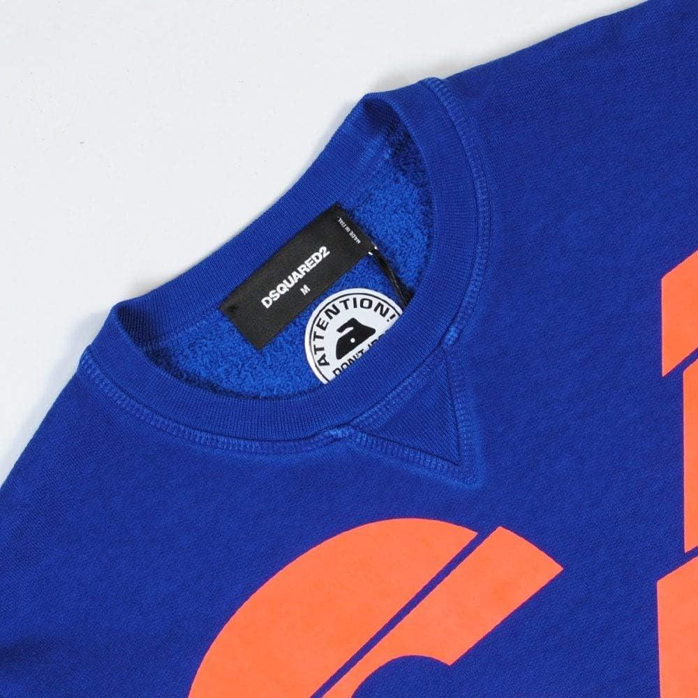 DSQUARED2 Felpa Uomo Blu Logo 64