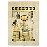 "Egyptian Original Hand Painted Papyrus 8""x12"" (20x30 cm) (Imentet and Ra Papyrus)"