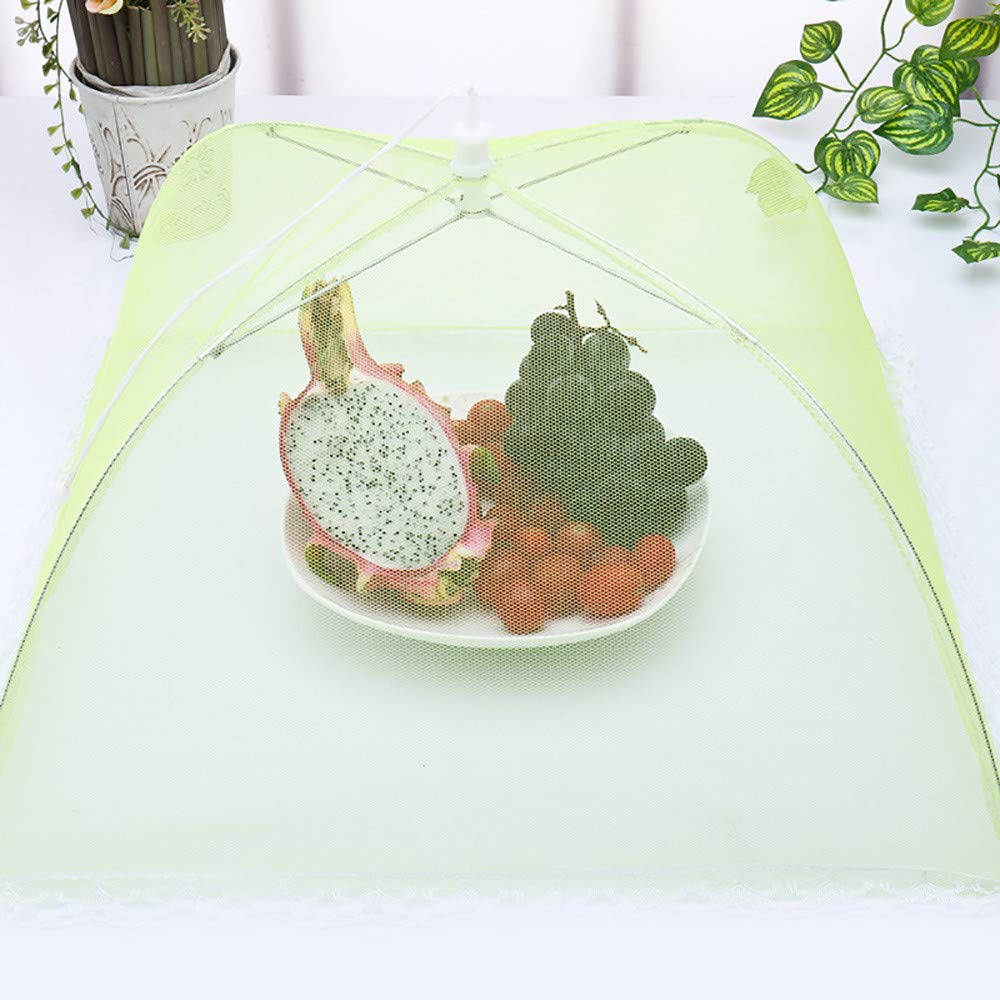 Weite Large Pop-Up Mesh Food Cover Tent Umbrella, Reusable Outdoor Picnic Food Covers, Collapsible Food Cover Net Keep Out Flies, Bugs, Mosquitoes (Multicolor) by Weite (Image #5)