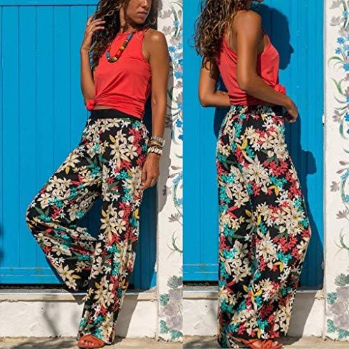 Ladies women Italian Lagenlook Printed Cotton Trousers Pants Boho Harem Ali Baba