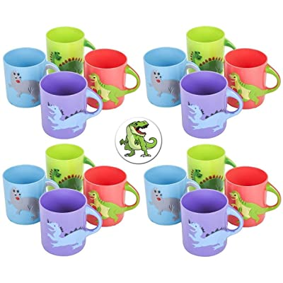 Rhode Island Novelty Dinosaurs Mugs Assorted Colors and Designs Two Dozen(24): Toys & Games