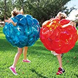 Set of 2 Inflatable Bumper Balls - Inflatable Battle Body Bubble Ball Bumper Bopper Gifts for Kids and Adults 36'' - 2 Balls(Bule,Red)