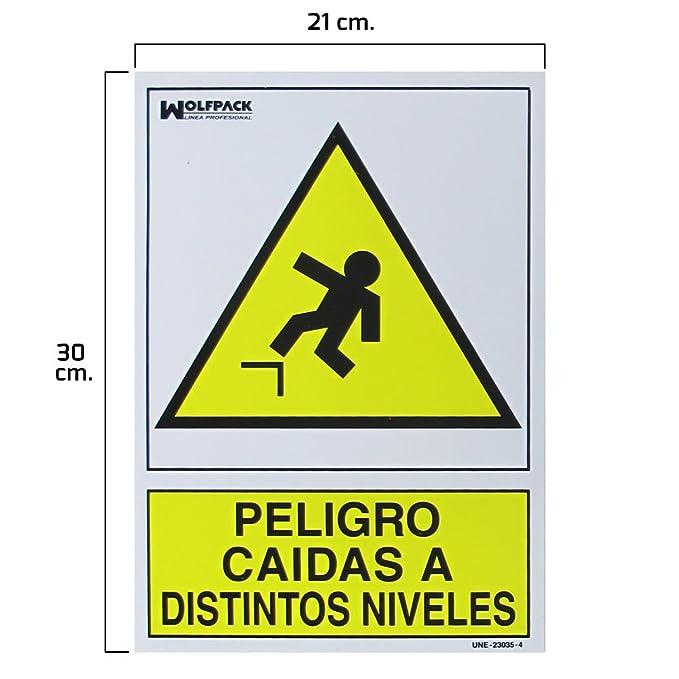 Wolfpack 15051262 Cartel Peligro Caídas a Distintos Niveles ...