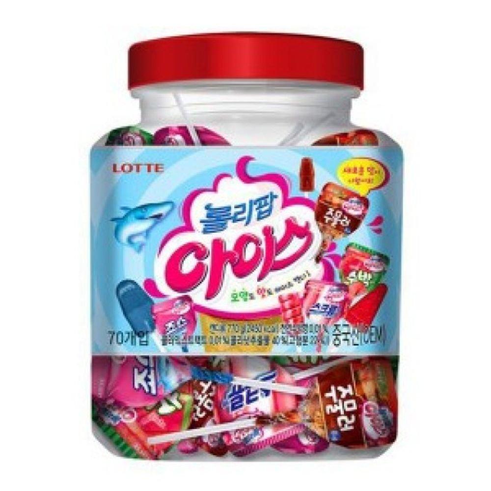 Lotte Lollipop Iced Assorted Candy 70pcs x 1