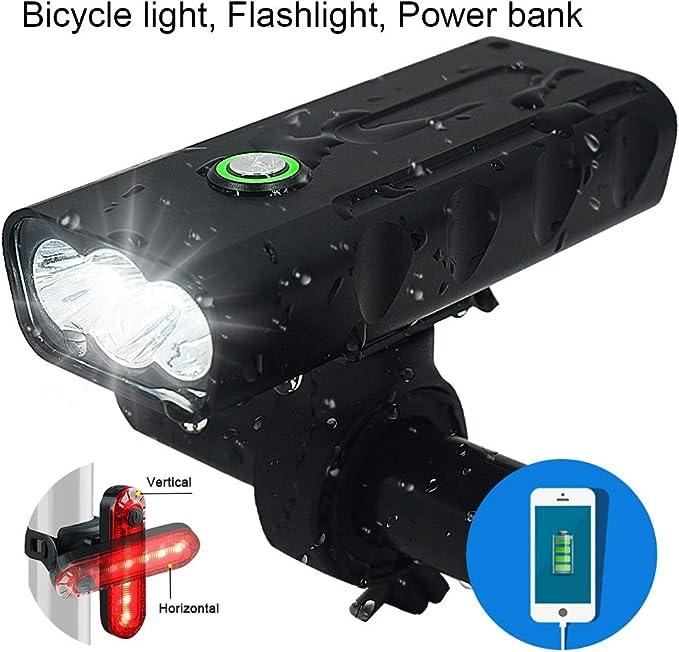 WEIHUIMEI 1 x USB recargable trasera bicicleta impermeable luz roja LED bicicleta luz trasera luz indicadora de seguridad trasera