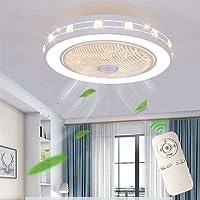 Ventilator aan het plafond lamp creatieve, moderne licht Dimmable aan het plafond met verlichting en remote stille…