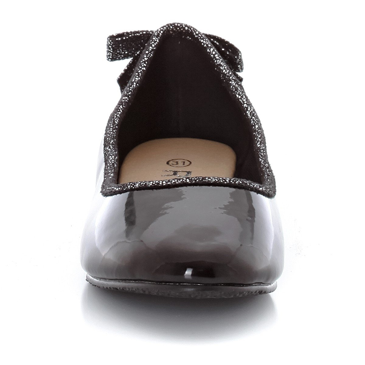 La Redoute Collections Big Girls Ballet Pumps with Bow Trim On Heel