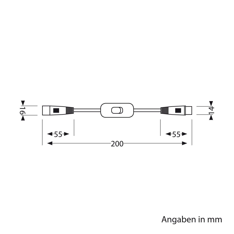 parlat 20cm Durchleitungskabel Spider mit Schalter