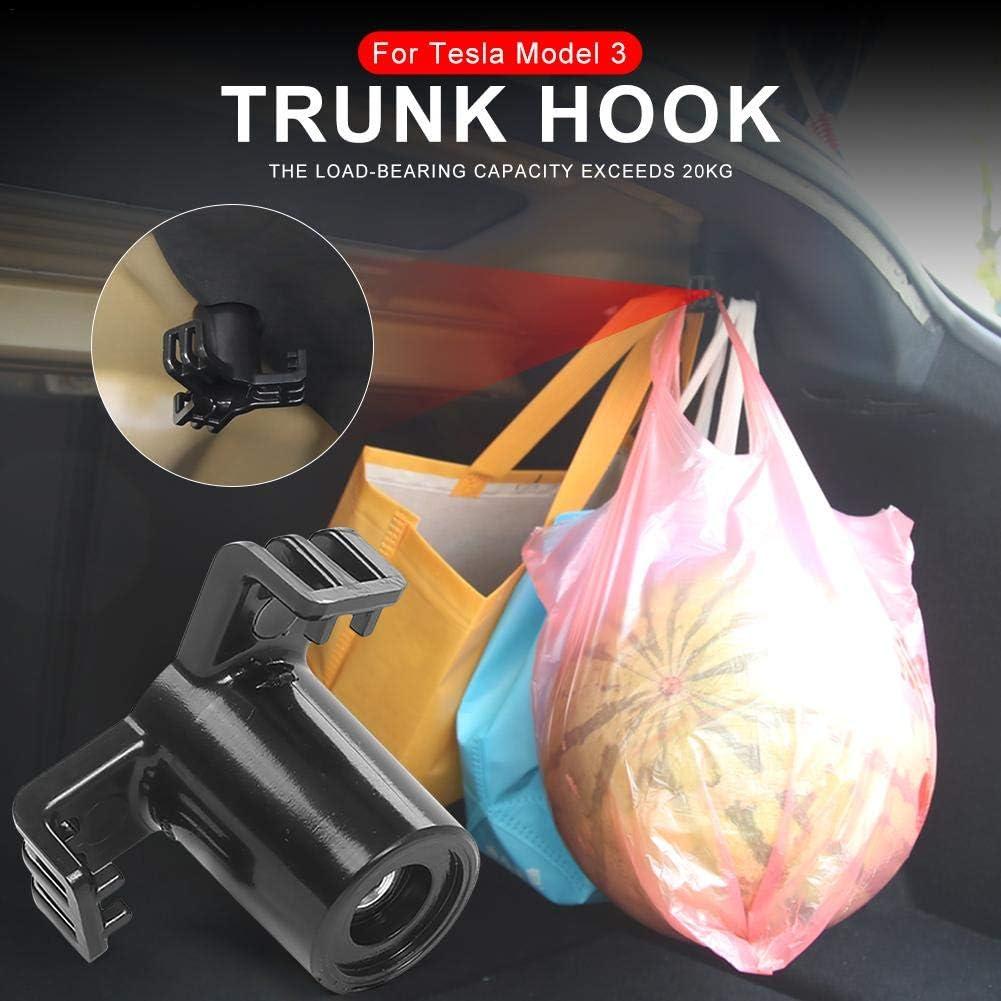Precauti 2 Stück Car Trunk Cargo Hook Zur Aufbewahrung Praktischer Langlebiger Autohalter Kompatibel Mit Tesla Model 3 Auto