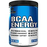 Evlution Nutrition BCAA Energy - High Performance Energizing Amino Acid Supplement For Muscle Building, Recovery And Endurance, 30 Servings (Blue Raz)