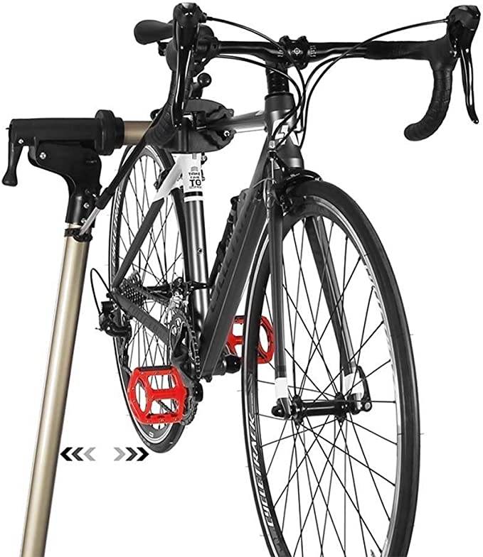 Soporte de Ajuste Rueda Bicicleta, Soporte reparación Bicicleta Trabajo Ajustable portátil Mantenimiento mecánico Herramienta Plegable Abrazadera para Bicicletas montaña y Carretera: Amazon.es: Deportes y aire libre