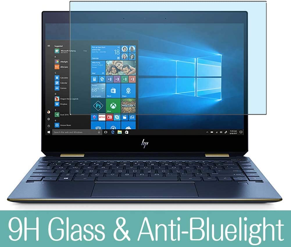 Synvy Anti Blue Light Tempered Glass Screen Protector Compatible with HP Spectre x360-13-ap0121ng 13.3 inch Visible Area 9H Protective Screen Film Protectors (Not Full Coverage)