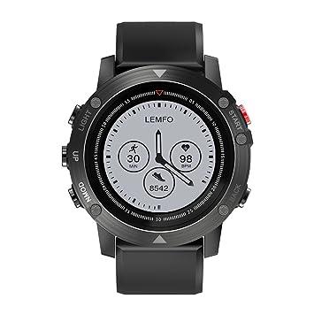 "Reloj inteligente, Bluetooth Relojes para hombres Pantalla IPS de 1.28 "" Monitor de pulso"