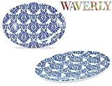 Waverly Solar Flair Collection 12'' Oval Serving Platter 2 Pack 100% Melamine Shatter-Proof and Chip-Resistant