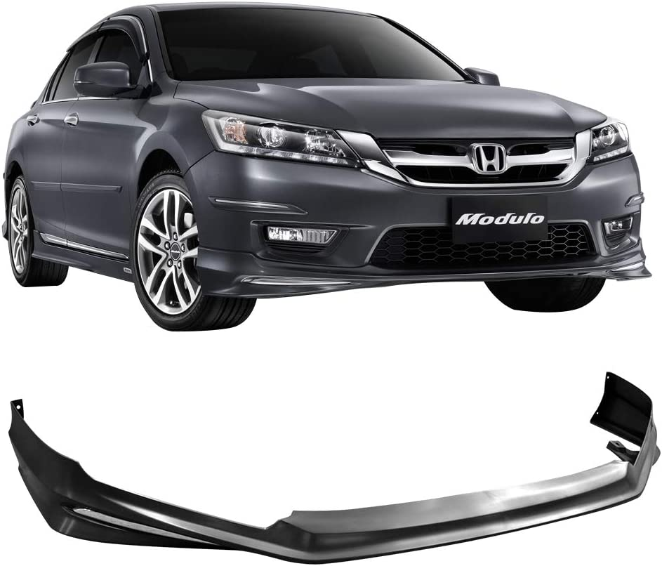 Free-Motor802 Compatible With 2013-2015 Honda Accord Front Bumper Lip MD Style Black PP Spoiler Guard Splitter Valance Chin