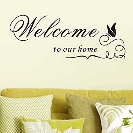 Amazon.com: Pei Trade Welcome To Our Home Wall Sticker Art Decal ...