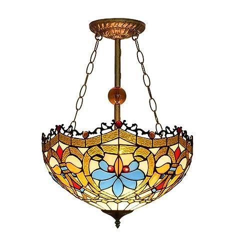 Pleasant Retro Home Lighting Tiffany Style Glass 3 Lights Inverted Download Free Architecture Designs Xoliawazosbritishbridgeorg