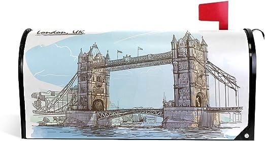 CPYang London Tower Bridge - Funda magnética para buzón de Correo para casa, jardín, Patio, decoración: Amazon.es: Jardín