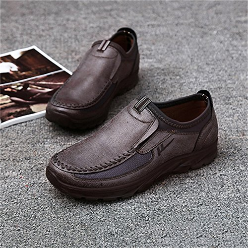 Shoes Comfort Breathable Walking Entrenadores Cuero Flats Zapatos Gris Dingcaiyi On Mocasines Leisure Slip Casual Hombres Business K18OKwqxgU