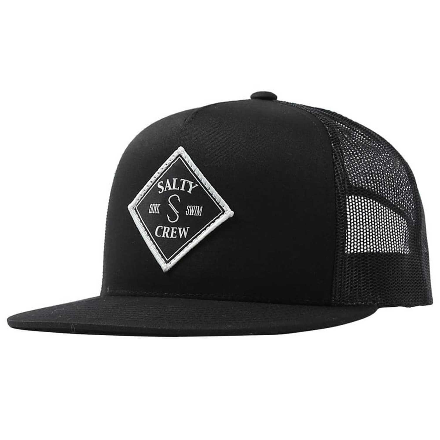 reputable site 4f5db 6c46c Salty Crew Men s Tippet Trucker Hat, Black, One Size at Amazon Men s  Clothing store