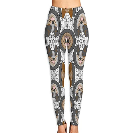 be706019ead1e2 Image Unavailable. Image not available for. Color: Hawxe-id Australian  Cattle Dog Gym Yoga Pants High Waist ...