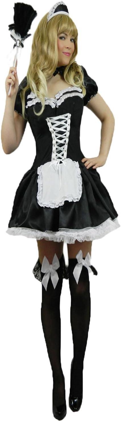 Yummy Bee Femme: 38//40 Plumeau Soubrette Fran/çais Femme de Chambre Servante D/éguisement Costume Rocky Horror Show Grande Taille 36-54