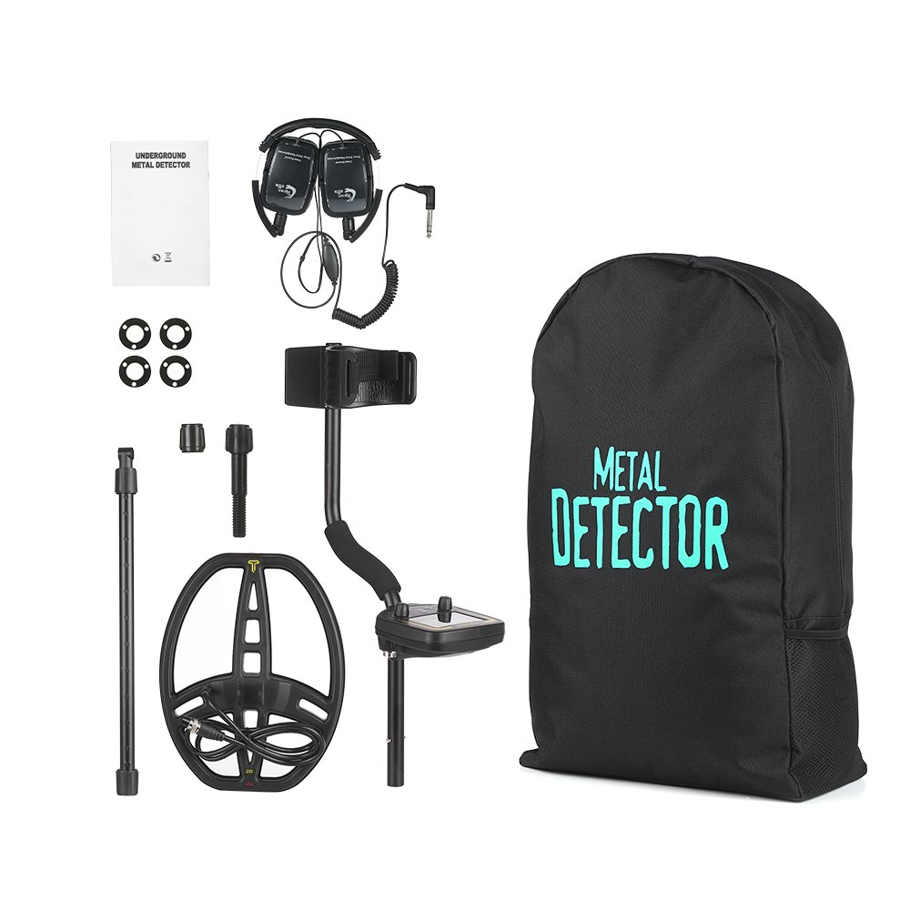 KKmoon Detector de metales de alto rendimiento y alto rendimiento Detector de metales subterráneo MD3010II Buscador de oro Buscador de tesoros Buscador de ...