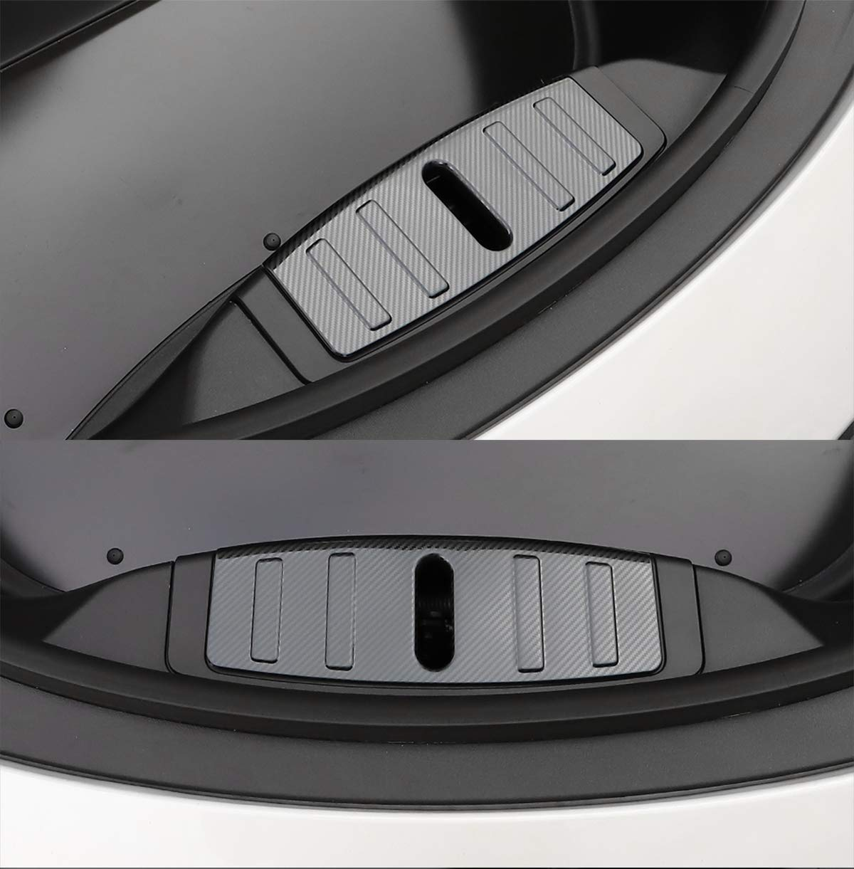 Carbon Fiber LUCKEASY Front Engine Trunk Box Luggage Bumper Panel for Tesla Model 3 2017-2019 Custom Fit Front Box Protection Patch