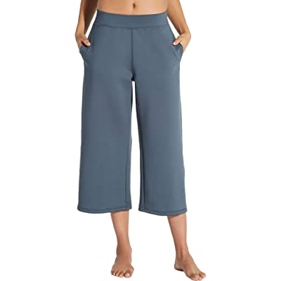 CALIA by Carrie Underwood Women's Limited Edition Lumia Scuba Wide Ankle Cropped Pants -Graphite Grey: Clothing