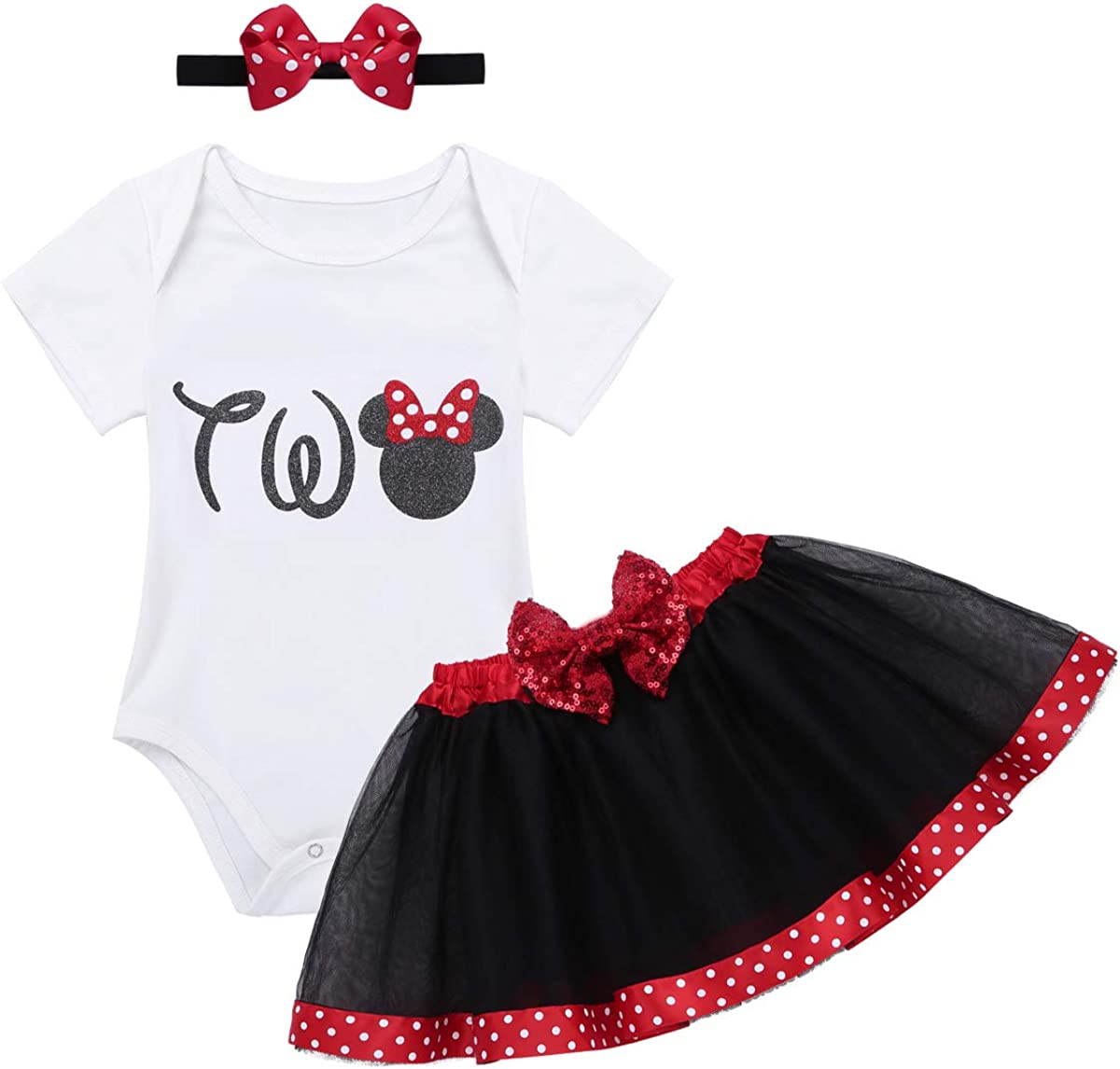 Agoky Bebé Niña Vestido Cumpleaños 3pcs Disfraz de Princesa Bebe ...