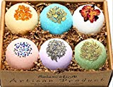 Bath Bombs All Natural Gift Set with Epsom Salt/Bath Bombs Bubble Bath Safe for Kids - Bath Bomb For Women with Bath Salts/Dead Sea Salt - Natural and Safe Bath Bombs Set – Bath Bombs Kit for Her