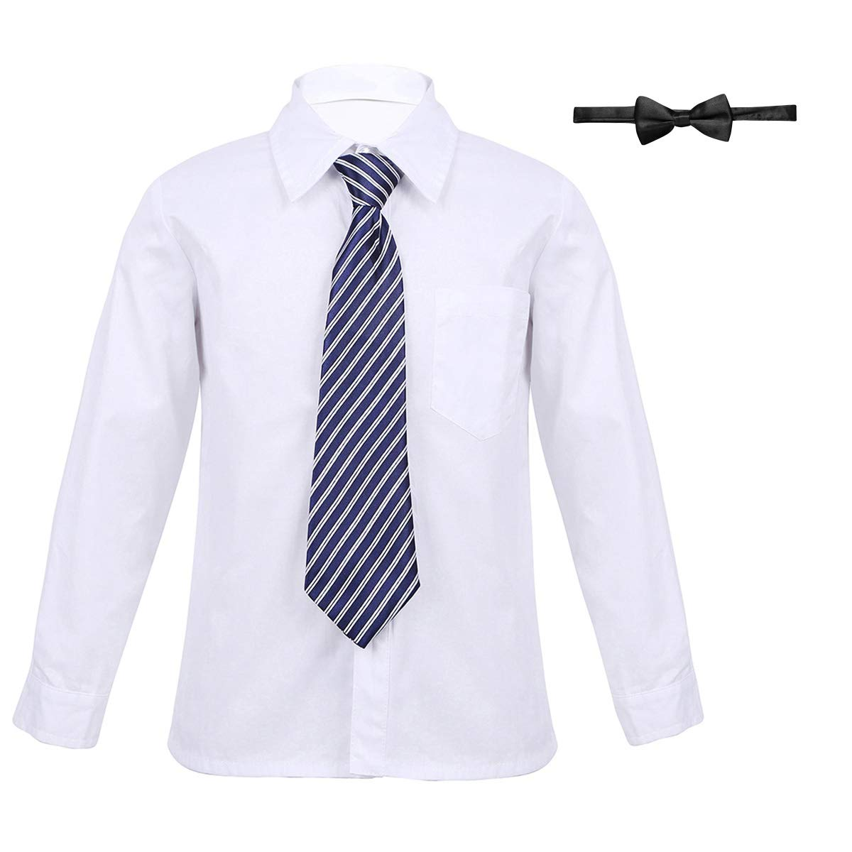 Amazon Chictry Boys Long Sleeved Formal White Dress Shirt With