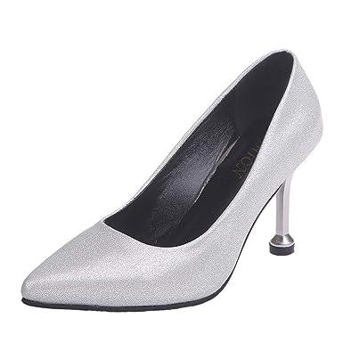 Escarpins Shoes Fermé Soiree Femme Chaussures Classique Pointu Bout l1JFKc