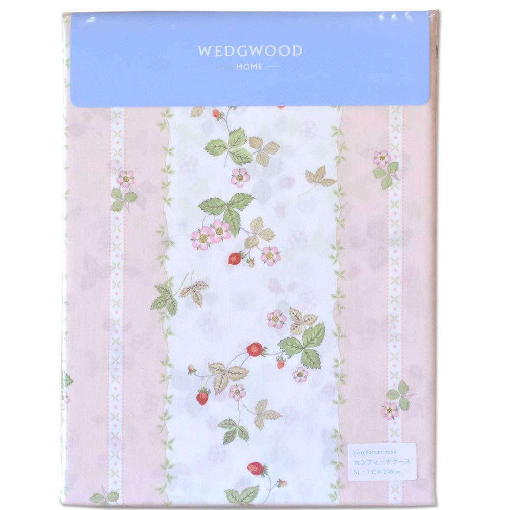 WEDGWOOD サテン地 掛け布団カバー 日本製 WW7620 (ピンク, ダブル) B07RWSHLP1 ピンク ダブル