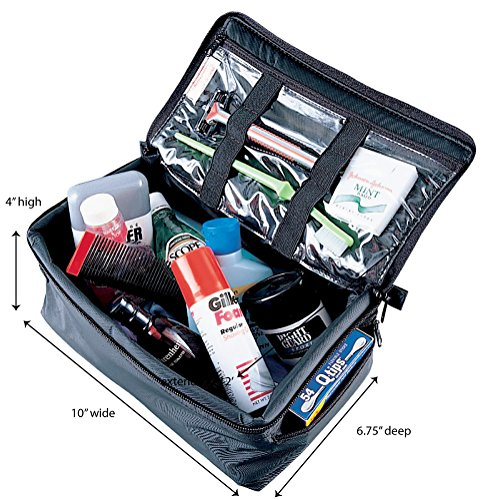61o RrAn0UL - Household Essentials 6706 Grooming Toiletry Travel Bag Organizer for Men and Women | Black