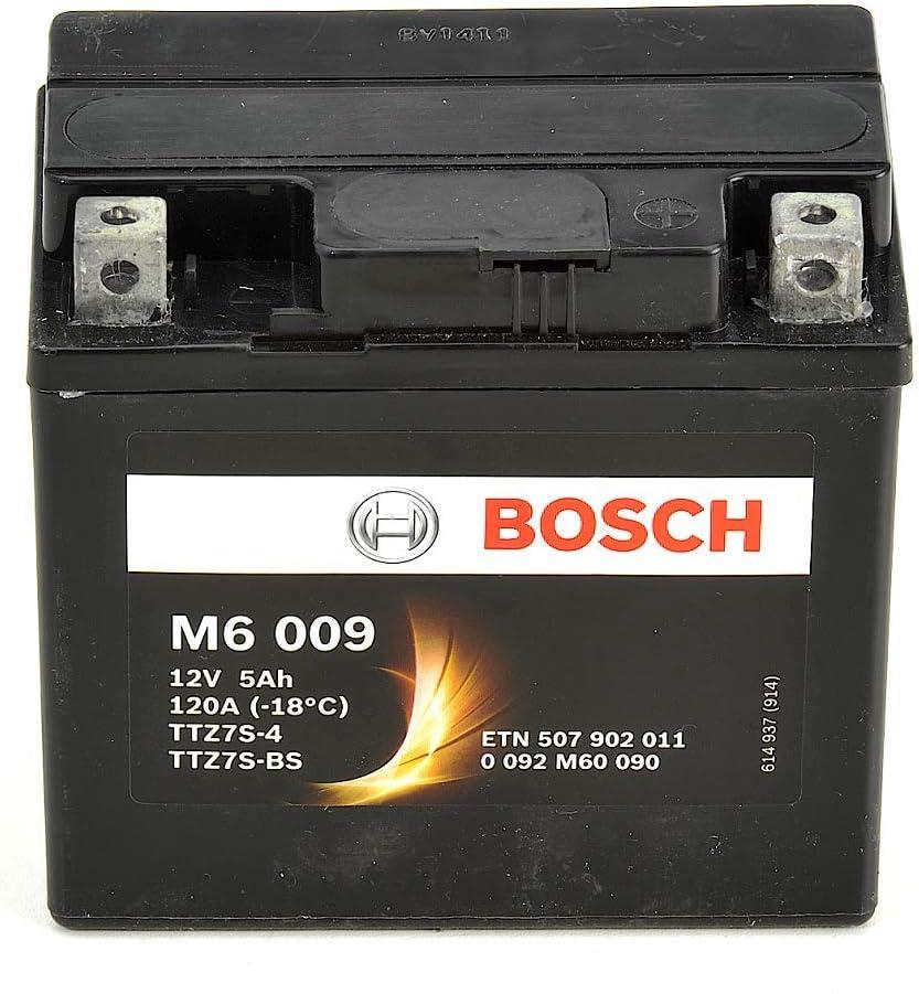 Bosch M6009 Batterie moto YTZ7S-4 12V AGM 5A//h-120A YTZ7S-BS