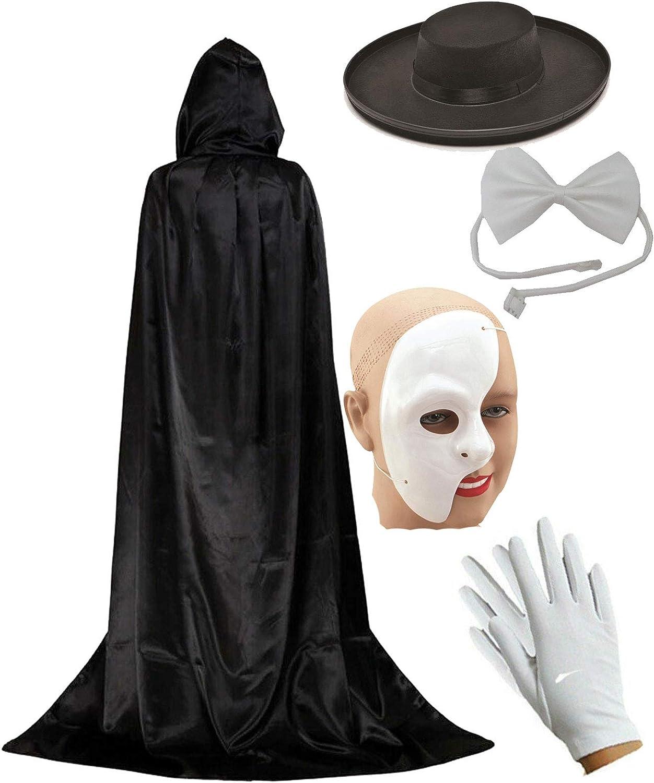 Phantom Of The Night Opera Theatre Halloween Adults Mens Fancy Dress Costume