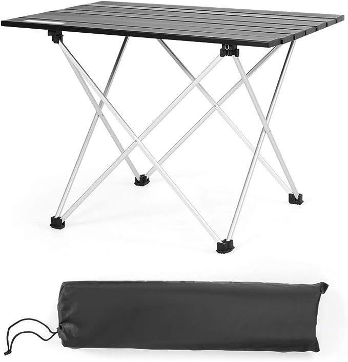 COSTWAY Mesa de Camping Plegable de Aluminio Mesa de ...