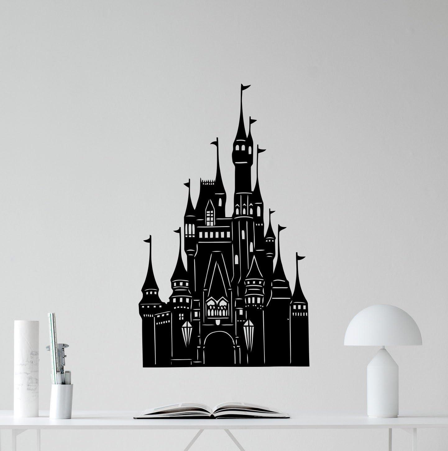 Cinderella Disney StickerSET OF TWOCinderella with Castle Decal