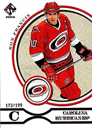Amazon.com  (CI) Ron Francis Hockey Card 2003-04 Private Stock Red ... 1b7f521d6