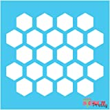 "Multi Size Options - Honeycomb Stencil template DIY honey comb arts and crafts (1"" Each Comb)"