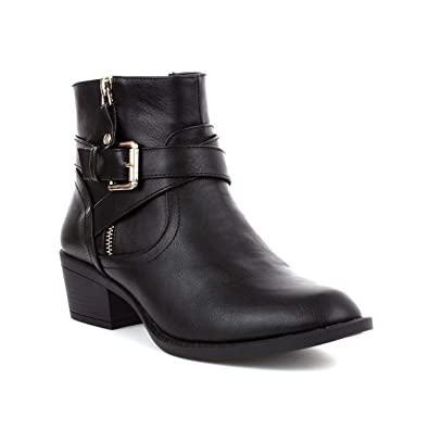 a124be0fce5c9 Lilley Womens Black Cross Strap Ankle Boot: Amazon.co.uk: Shoes & Bags