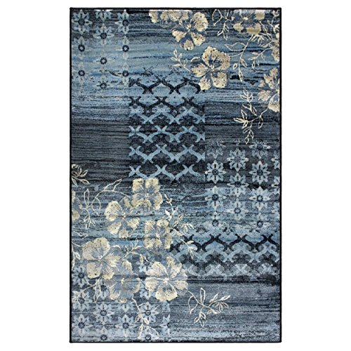 Blue Nile Mills Kennicot Area Rug Collection 4X6 (Geometric Floral Rug)